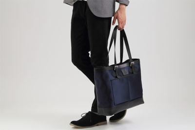多機能ナイロントートは、いま使いやすいビジネスバッグ 日本製ナイロン プレミアムレザー メンズ
