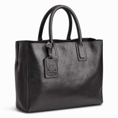 ビジネスにも使いやすい、黒レザートートバッグはこれ! クロスビー 高品質