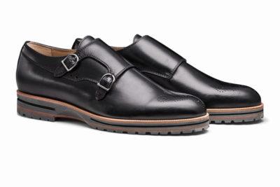 【メンズ】革靴ダブルモンクは、カジュアルスタイルの大本命 ガンナーブラック GUNNAR BLACK