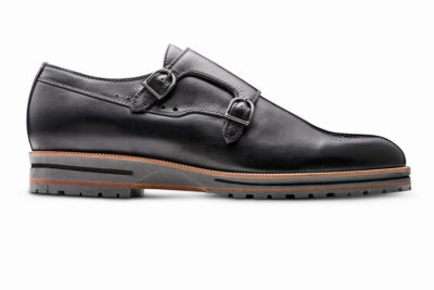 【メンズ】革靴ダブルモンクは、カジュアルスタイルの本命 ガンナーブラック GUNNAR BLACK