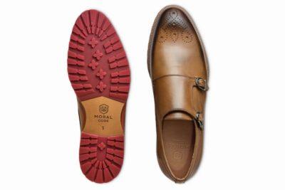 【メンズ】革靴ダブルモンクは、カジュアルスタイルの本命 ガンナータン茶 GUNNAR TAN