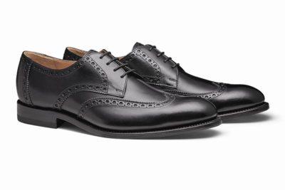 メンズおすすめフォーマルシューズ靴 ランキング2位ホールデン ブラック メンズウィングチップレザービジネスシューズ