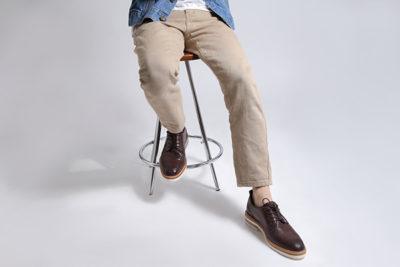 【メンズ】きれいめコーデに合わせやすい革靴カジュアルシューズ マーシャルダークブラウン MARSHALL DARK BROWN