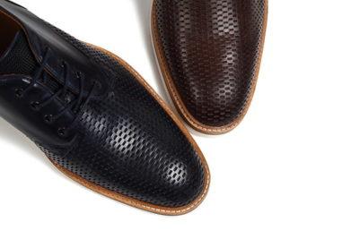 革靴カジュアルシューズ マーシャル ネイビー ダークブラウン MARSHALL NAVY DARK BROWN
