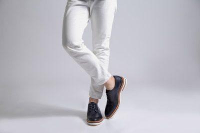 【メンズ】きれいめコーデに合わせやすい革靴カジュアルシューズ マーシャルネイビー MARSHALL NAVY