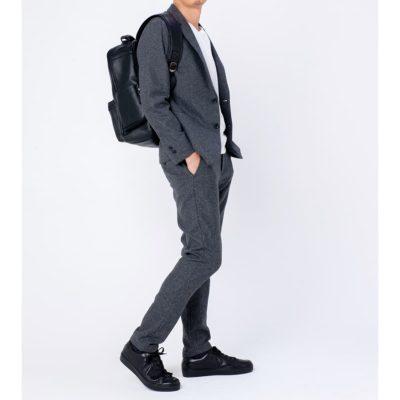 【レザー専門店】大人通勤リュックが新ビジネス DESMOND-II黒ブラック