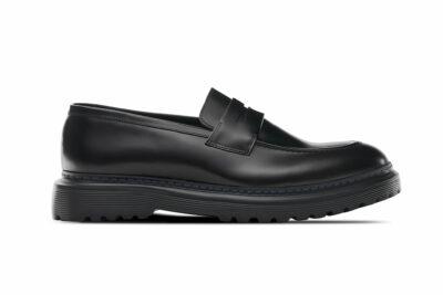 今流行の厚底ガラスレザーシューズJAXON: ローファー ガラスレザー スリッポン革靴