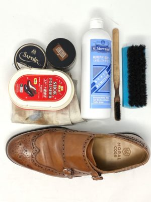 今回使う「革靴お手入れ用品」