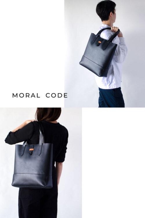 レザートートバッグ 黒ブラック メンズビジネス向けA4大容量革鞄としておすすめ ブレイク