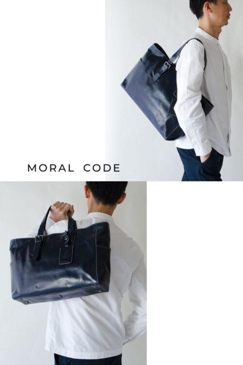 レザートートバッグ 紺ネイビー メンズビジネス向けA4大容量革鞄としておすすめ フロリダ