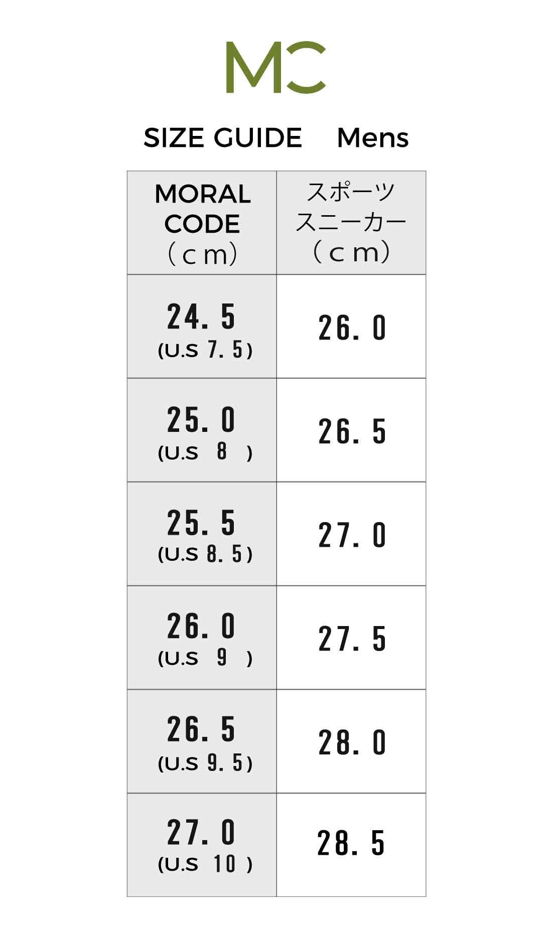 【2021年4月更新】海外靴サイズUS/UK/EUは、日本のどのCMセンチサイズに対応?